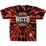 Liquid Blue Unisex Adult MLB Burst Tie-Dye T-Shirt - Short Sleeve - New York Mets