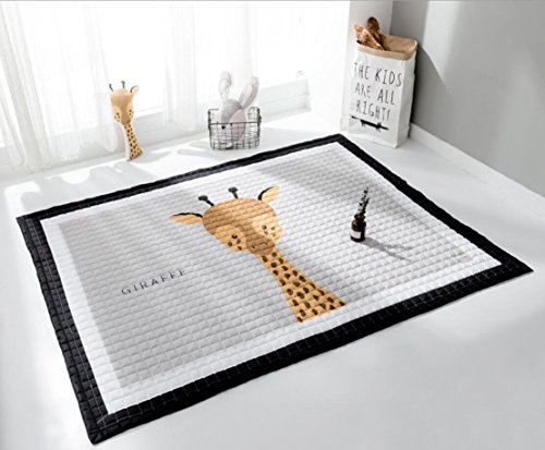 LAGHCAT Children Rug thickening Carpet Pad with Animal Soft Christmas Mat for Baby Creeping,Giraffe from LAGHCAT