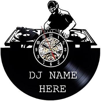 Amazon.com: Mezclador de DJ VINYL RECORD – Reloj de pared ...