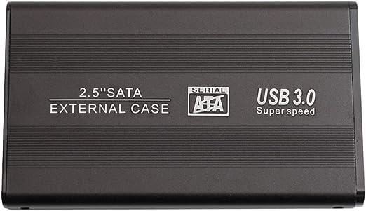 Homyl ブラックショックプルーフ2.5インチ5Gbps Fast Speed USB3.0外付けハードドライブアップグレードPC - 2T