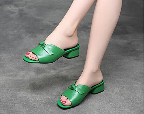 Sandals Women's shoes Thick heel sandals and slippers Women's comfortable sandals and slippers Fashion sandals Flat Sandals,Fashion sandals (Color : A, Size : 36) A
