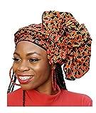Orange African Print Ankara Head Wrap One Size