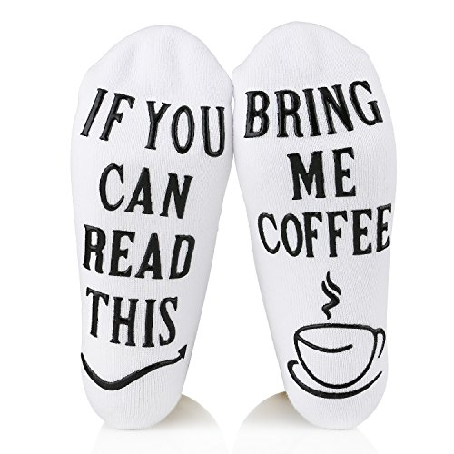 Gifts for Women Men- Luxury Combed Cotton Coffee Socks with Funny WordsIf You., Valentines Day, Christmas, Birthday,Gift Idea For Husband, Wife,Gifts for Mom Her Coffee Lover Husband Wife Friends