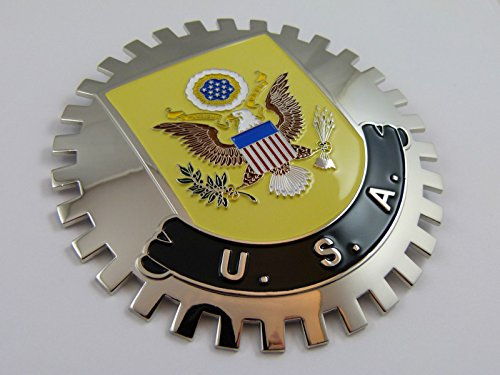 Grille Badge USA with Coat of arms Eagle for car truck grill mount American flag