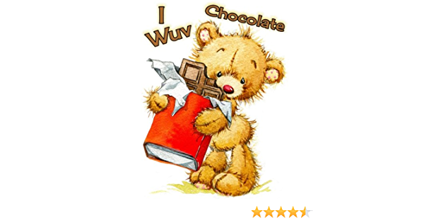 I Wuv Chocolate: Address Book, Large Print Book, 8 1/2