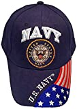 Buy Caps and Hats Navy Veteran Baseball Cap Vet Military Mens One Size (U.S. Navy with Flag Bill)