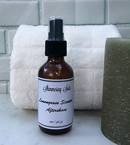Lemongrass Aftershave, Men's Aftershave, Aloe Aftershave, Vegan Aftershave, Handmade Aftershave, 2oz Amber Spray Bottle