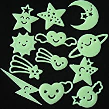 12Pcs Smiling Star Fluorescence Wall Stickers Decals