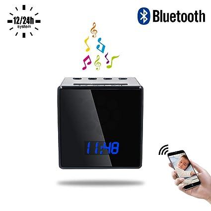 Cámara Oculta Bluetooth, UYIKOO 140 ° HD 1080P Mini Cámara WiFi Espía Cámara Bluetooth Altavoz