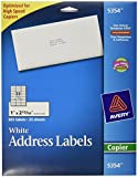 Avery White Mailing Labels for Copiers, 1 x 2.81 Inch, Pack of 825 (5354)