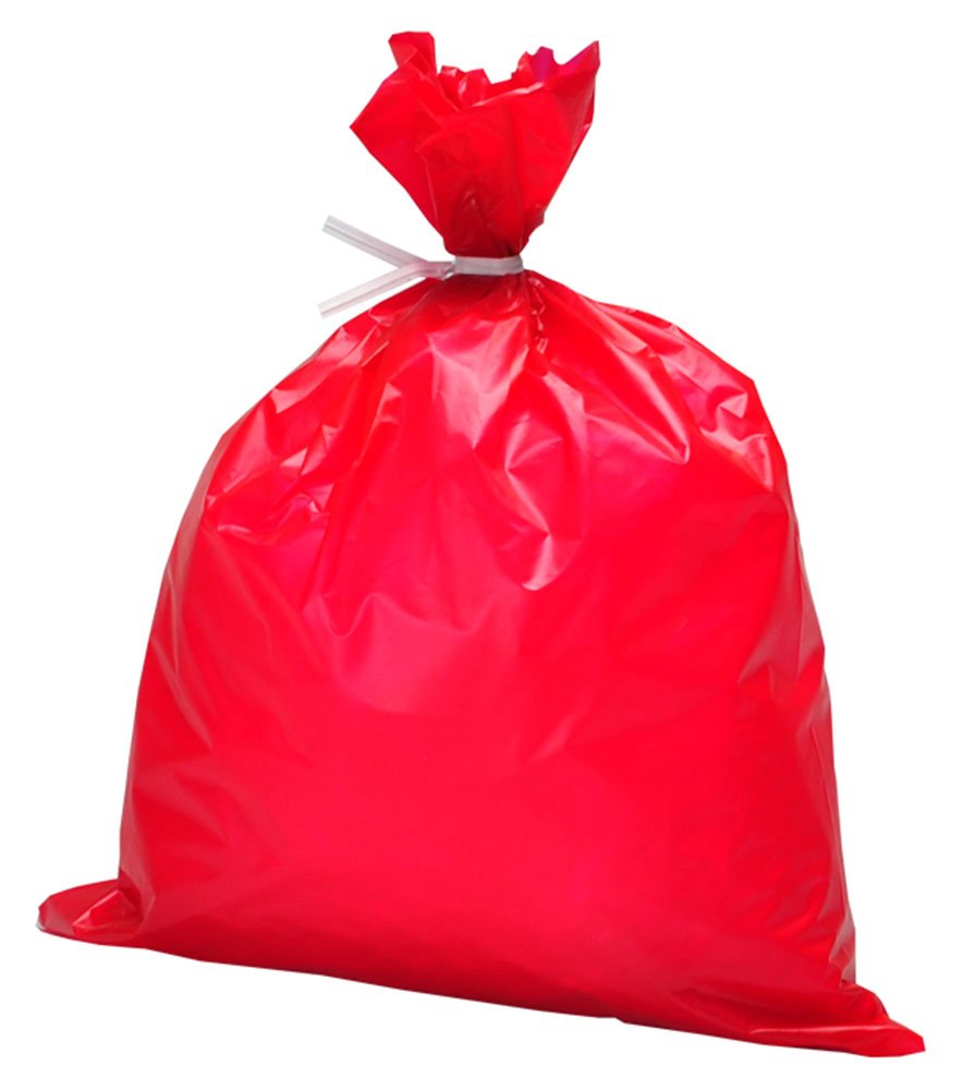 Elkay HD0430RE 1 mil High-Density Dressing Disposal Bag, 4'' x 30'', Red (Pack of 1000) by Elkay Plastics