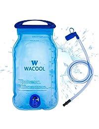 WACOOL 2 L 2 litros 70 oz libre de BPA PEVA bolsa de hidratación, antigoteo depósito de agua