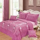 DaDa Bedding YG1002T Mushy Ribbon Paisley 3-Piece Bedspread Set - Purple - Twin - 2-Pieces