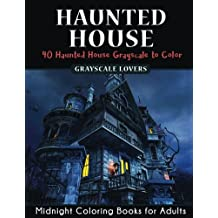Haunted House: Horror Midnight Coloring Books Challenge