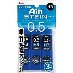 Pentel Ain Stein Mechanical Pencil Lead, 0.5mm HB, 40 Leads x 3 Pack (XC275HB-3P)