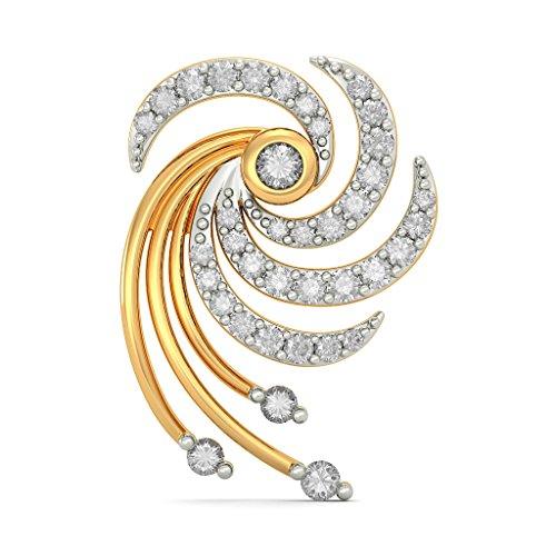 Or jaune 18K 0,37carat au total White-diamond (IJ   SI) Boucles d'oreille à tige