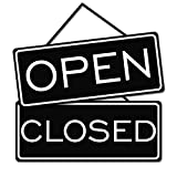All Quality Open Closed Sign (Black)