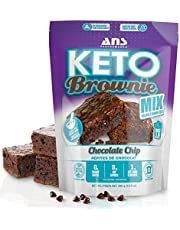 ANS Performance Keto Brownie Mix - Low Carb Keto Baking Mix - Chocolate Chip Fudge - Zero Added Sugar - Naturally Sweetened - Gluten-Free Treat - Vegetarian Friendly - Bakes 16 Brownies