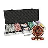 MRC 500pcs Ultimate Laser Poker Chips Set with Aluminum Case