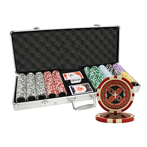 MRC 500pcs Ultimate Laser Poker Chips Set with Aluminum Case by Mrc Poker