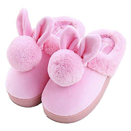 Kids Bunny Shoes (CYBLING Comfort Winter Soft Soled Non-slip Kids Bunny Home Slippers for Little Boys Girls)