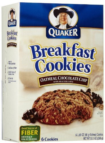 Quaker Breakfast Cookies, Oatmeal Chocolate Chip, 6 Cookies Per Box (Pack of 6) by Quaker