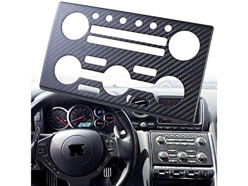 - Dry Carbon Fiber CF AC Stereo Dash Panel Cover For Nissan Skyline GTR GT-R R35