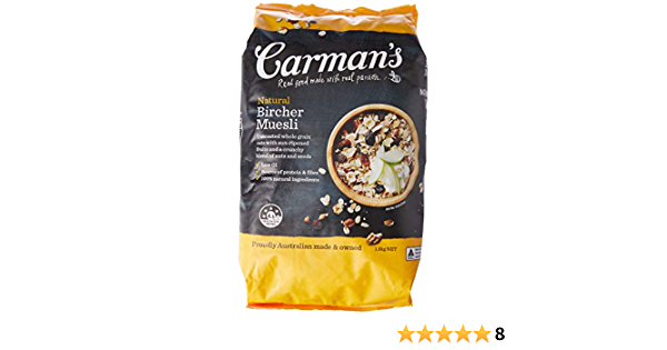 Carman S Muesli Untoasted Natural Bircher 1 5kg Amazon Com Au Grocery Gourmet Food