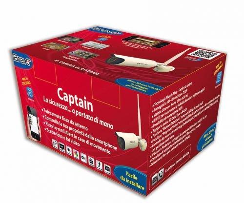 VIDEOSORVEGLIANZA WI-FI SD CARD 16GB TELECAMERA WIRELESS DA ESTERNO CAPTAIN