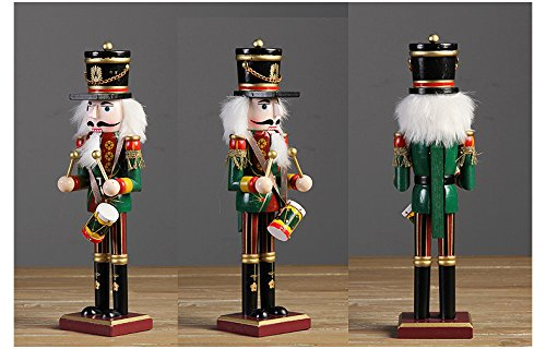 Nutcracker Soldiers Gift Set from Spring Country | Great Decoration Figure Collection to Share a Memory with | Christmas | New Wooden Puppets | 12 inch Toys Holiday Ornament | 4 Pieces Toy Set by Spring Country (Image #3)
