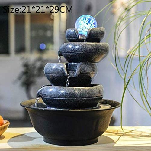 Amazon Com Wangyongqi Decorative Fountains Indoor Water Fountains Resin Crafts Gifts Feng Shui Fountain Desktop Home Fountain 110v 220v G K Wall Art