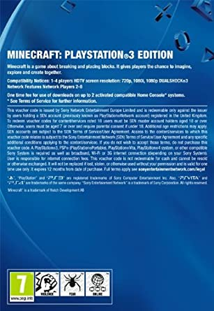 Minecraft | PS3 Download Code - UK account: Amazon co uk: PC