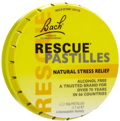 Bach Rescue Remedy,Pastillle, 50g 12 Pcs by Bach Remedies