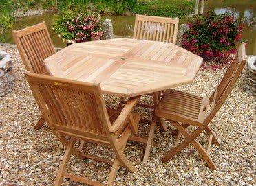 Sustainable Furniture UK Ltd Table octogonale Pliable en ...