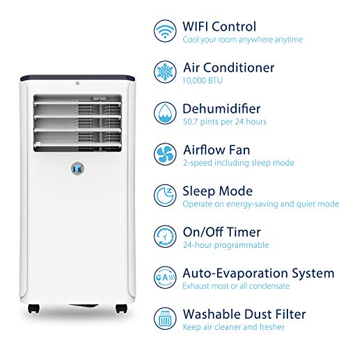 Buy portable air conditioner with heat pump