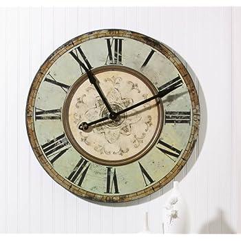 Amazon Com Large 36 Quot Lanier Rustic Wood Wall Clock Home