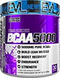 Evlution Nutrition BCAA5000 Powder 5 Grams Of BCAAs 30 Servings (Furious Grape)