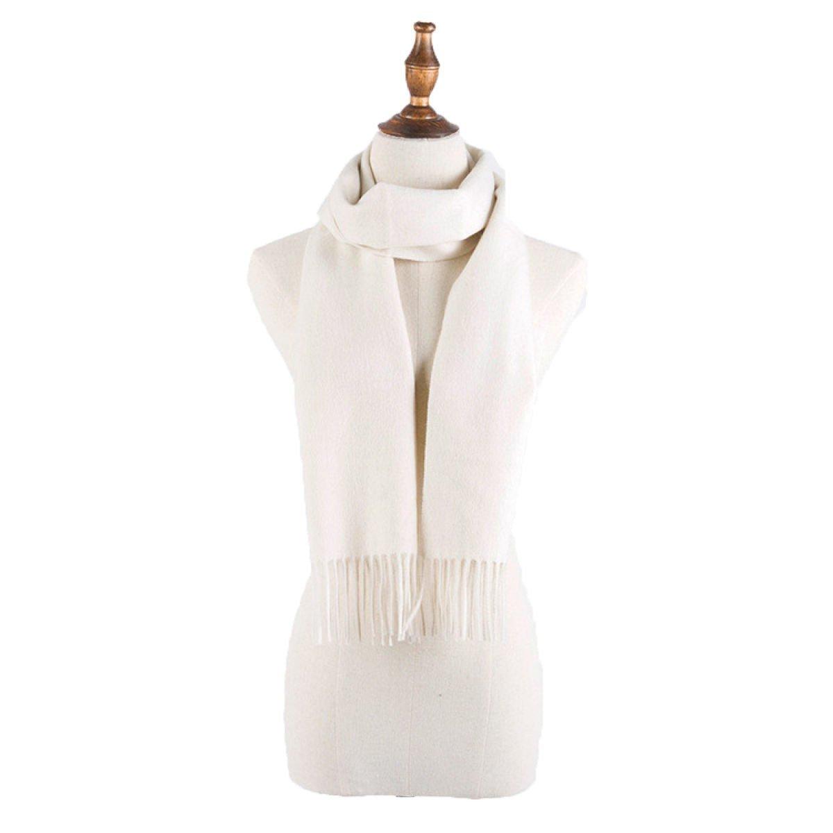 DIDIDD Bufandas hombre y mujer general ultra fino multicolor opcional cálido,Blanco,180 * 33cm