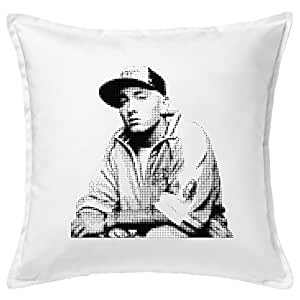 Eminem Funny almohada/Cushion & Pillow Cover, Weiß