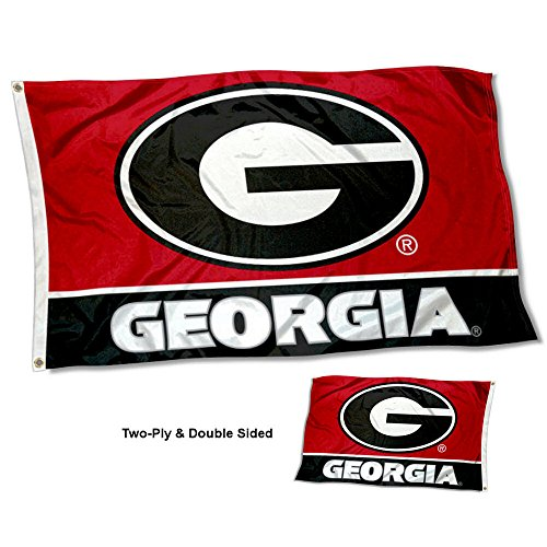 College Flags and Banners Co. University of Georgia Bulldogs G Logo Double Sided Flag