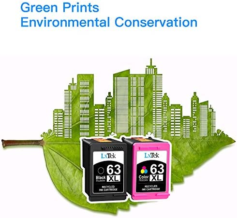 63XL 63 XL LxTek Remanufactured Ink Cartridge Replacement for HP 63 63XL to make use of with HP Officejet 5255 5258 5260 3830 Envy 4520 4516 DeskJet 1112 2132 3632 Printer (1 Black, 1 Tri-Color, 2 Pack)