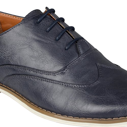 Daxx Mens Nedstickning Lace-up Oxfords Bruna