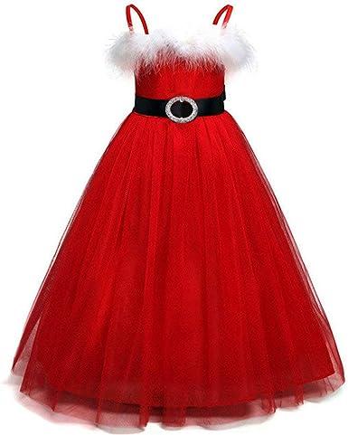 POLP Niña Vestido Princesa Vestidos Navidad Cosplay Bowknot ...