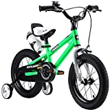 """Royalbaby Unisex Youth Freestyle boy's Girl's stabilisers Water Bottle and Holder Kids Children Child Bike Bicycle, Green, 12"""""""
