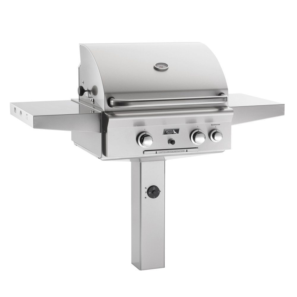 AOG American Outdoor Grill 24NGT T-Series 24 inch Natural Gas Grill On in-Ground Post Rotisserie