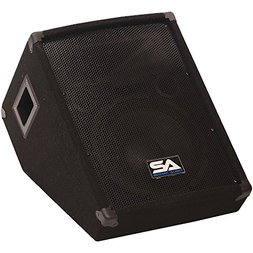 Seismic Audio - SA-10MTSingle - 10'' Floor/Stage Monitor Wedge Style with Titanium Horn by Seismic Audio