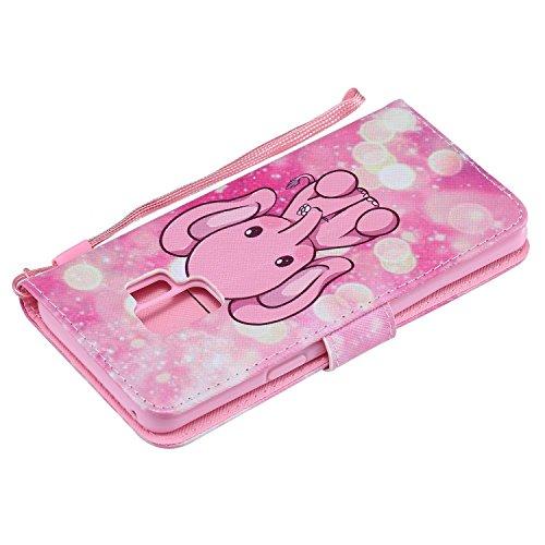 Bandoulire Cuir Euwly Et Ultra De mince Ultra Porte Pour En Pink plat Portefeuille Elephant Samsung Etui G Avec cartes S9 tui Galaxy Ow7IW8q