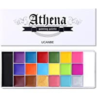 UCANBE Athena Face Body Paint Oil Palette, Professional Flash Non Toxic Safe Tattoo Halloween FX Party Artist Fancy…
