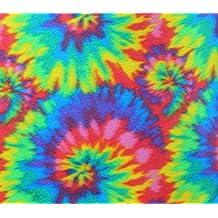 "Polar Fleece Fabric Prints * SPIRAL TIE DYE * / 60"" Wide / Sold by the Yard / N-552"