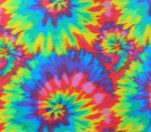 Polar Fleece Fabric Prints Spiral TIE DYE / 60